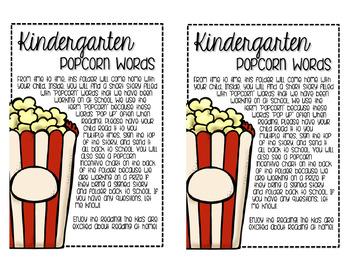 "Dolch ""Popcorn Words"""