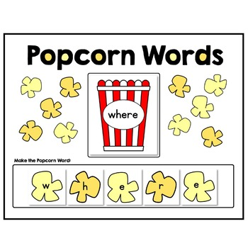 Dolch Popcorn Words - Read and Build Sight Words - All 220 Dolch Words Included!