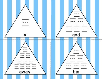 Dolch Pre-K Pyramid Writing Practice