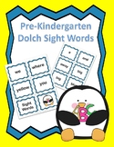 Dolch Pre K Sight Words Flash Cards