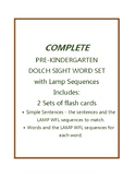 Dolch Pre-K Simple Sentences and Word Flash Cards with LAMP WFL sequences - AAC
