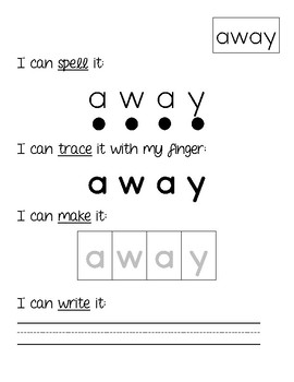 Dolch Sight Word Activities {Pre-K}