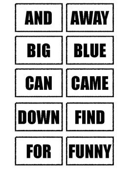 Dolch Pre-Kindergarten Sight Word Flash Cards