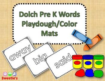 Dolch Pre Kindergarten Word Mats