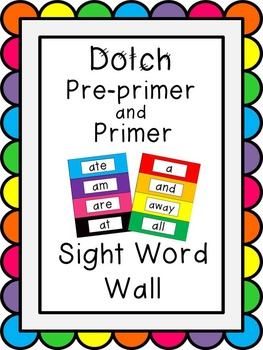 Dolch Pre-Primer-3rd Grade Word Wall Bundle