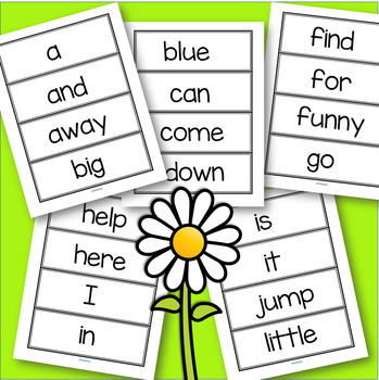 Dolch Pre-Primer 40 Flashcards for Pre-K and Kindergarten FREE
