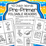 Dolch Pre-Primer Sight Words 40 Foldable Emergent Readers