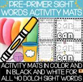 Dolch Pre-Primer Sight Words Activity Mats Set