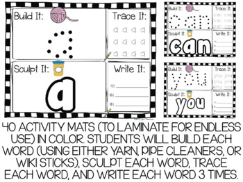 Dolch Pre-Primer Sight Words Activity Mats Set