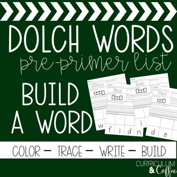 Dolch Pre-Primer Build A Word