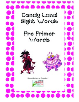 Dolch Pre-Primer Candyland Game