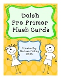 Dolch Pre Primer Flash Cards