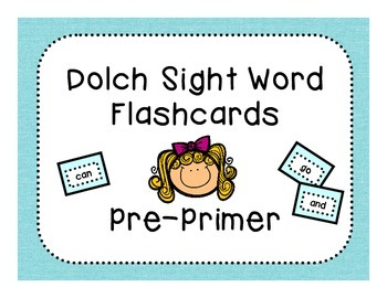 Dolch Pre-Primer Flashcards