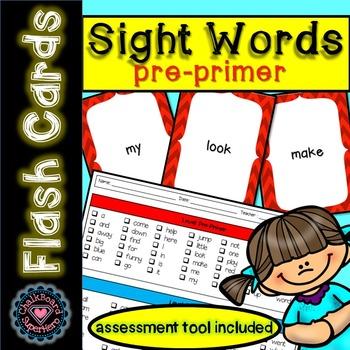 Sight Word Flashcards: Pre-Primer