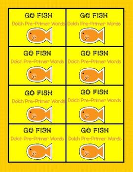 Dolch Pre-Primer Go Fish game
