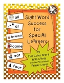 PRIMER Level Dolch Sight Words...39 Word Wall Cards and Fl