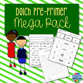 Dolch Pre-Primer Low Prep Mega Pack