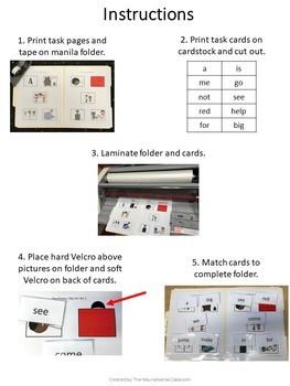 ABLLS-R Q5 & Q10: Dolch Pre-Primer Matching Task