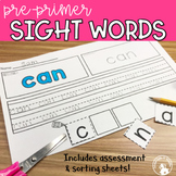 Sight Word Pre Primer Packet