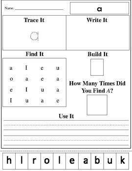 Dolch Pre-Primer Practice Worksheets