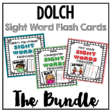Sight Words Picture Flashcards -Pre-Primer, Primer, and First Grade BUNDLE