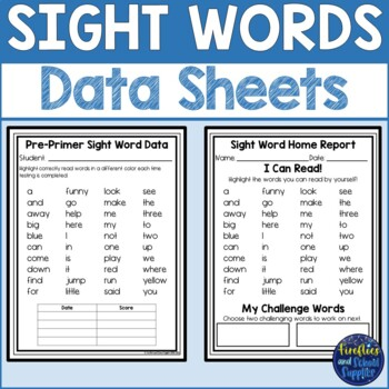 Dolch Pre-Primer Printable Sight Word Cards