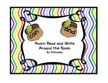 Dolch Pre Primer Read and Write Around the Room w/ Acorns