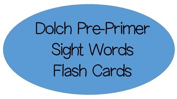 Dolch Pre-Primer Resources- OVER 100 PAGES!!!