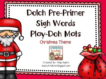 Dolch Pre-Primer Sigh Words-Play Doh Mats