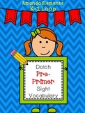 Dolch Pre-Primer Sight Vocabulary: Cut and Glue Sight Words