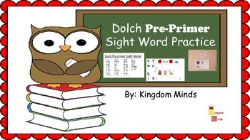 Dolch Pre-Primer Sight Word Activity