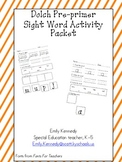 Dolch Pre Primer Sight Word Activity Packet