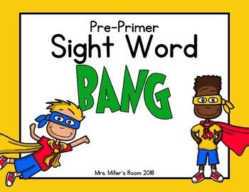 Dolch Pre-Primer Sight Word - BANG!