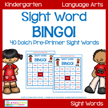 Dolch Pre-Primer Sight Word Game - Bingo!