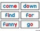 Dolch Pre-Primer Sight Word Cards