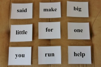 Dolch Pre-Primer Sight Word Cards (SIMPLE, CLEAN FONT, PERFECT FOR SMALL HANDS)
