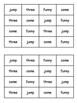 Dolch Pre-Primer Sight Word Daily Fluency Cards