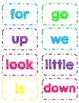 Dolch Pre-Primer Sight Word Flash Cards/Word Wall Cards in White