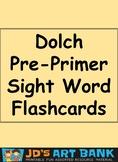 Dolch Pre-Kindergarten Sight Word Flashcards