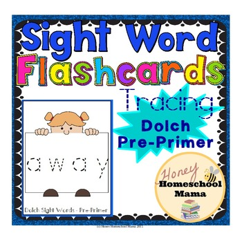 Dolch Pre-Primer Sight Word Flashcards - Tracing Set