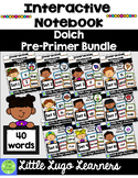 Dolch Pre-Primer Sight Word Interactive Notebook Bundle