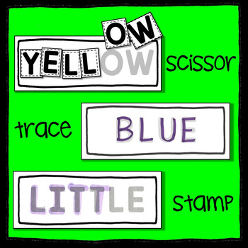 Dolch Pre-Primer Sight Word Letter Scissoring - A Sight Word Literacy Center