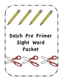 Dolch Pre Primer Sight Word Pack