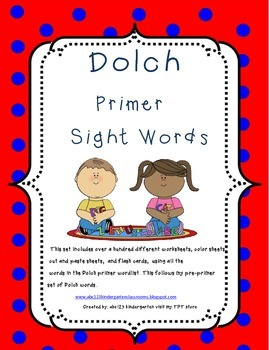 Dolch Primer Sight Word Packet Set 2