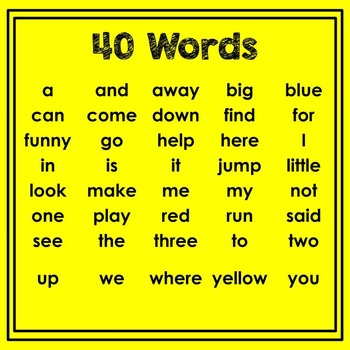 Dolch Pre-Primer Sight Word Play-Doh Mats