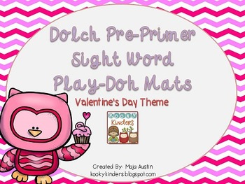 Dolch Pre-Primer Sight Word Play-Doh Mats Valentine's Day Theme