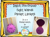 Dolch Pre-Primer Sight Word Pocket-Lockets: Make a Pocket