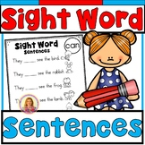 Dolch Pre-Primer Sight Word Predictable Sentences (Fill in the Blank)
