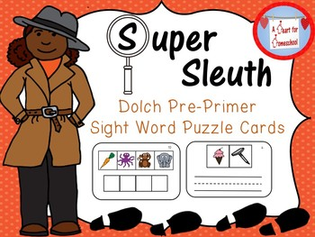 Dolch Pre-Primer Sight Word Puzzle Cards