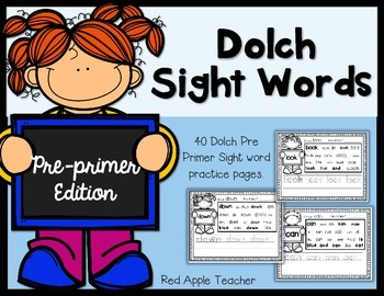 Dolch Pre Primer Sight Word Search & Write (PK-2)